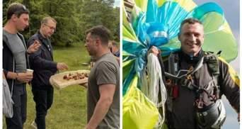 Зеленский угощал шашлыком, Кличко летал с парашютом: поздравления политиков с Днем журналиста