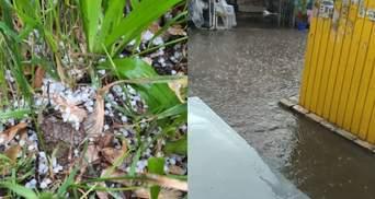 Потужна злива з градом затопила вулиці Одеси: фото, відео наслідків негоди