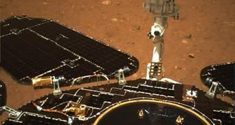 """Китайская орбитальная станция Tianwen-1 сфотографировала марсоход """"Чжужун"""": фото"""