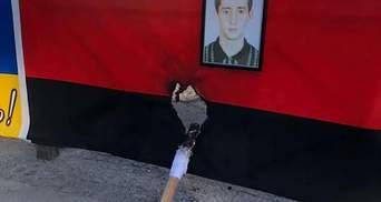 Подожгли факелом флаг: в Одессе повредили мемориал погибшим патриотам