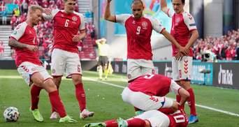 Крістіан Еріксен втратив свідомість під час матчу Євро-2020: медики на полі провели реанімацію