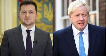 Вступление в НАТО и угроза от России: Зеленский поговорил с премьером Великобритании Джонсоном