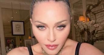 62-річна Мадонна ледь втримала груди в шкіряному бюстгальтері: зухвалі селфі