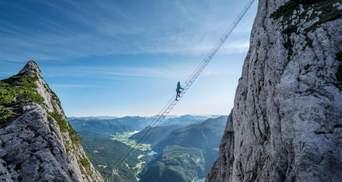 """""""Лестница в небо"""": как выглядит живописный путь в австрийских Альпах - фото, видео"""