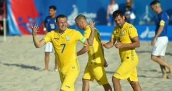 Пляжний футбол: Україна за 20 секунд до кінця матчу перемогла Німеччину у відборі Євроліги