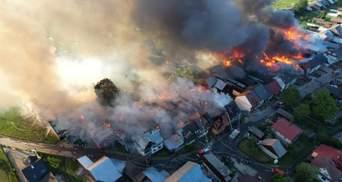 В Польше почти выгорело село: фото и видео ужасного пожара