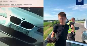 5 штрафів за поїздку: в Умані водій BMW під наркотиками на великій швидкості тікав від поліції