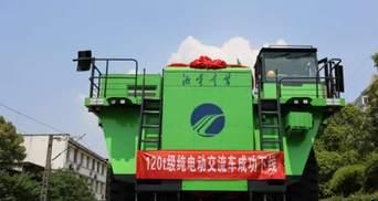Дивують рекордами: у Китаї показали 120-тонний кар'єрний самоскид на батареях