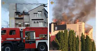 На Киевщине горела стоматология: спасатели более 5 часов боролись с огнем