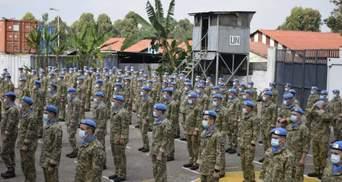 Українські миротворці у ДР Конго отримали почесні нагороди від ООН: фото, відео