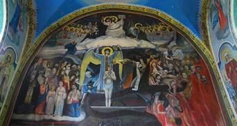 Сталін та Гітлер горять у пеклі: церква в Україні має унікальну фреску – фото