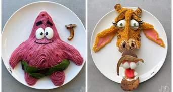 Кулинар превращает здоровую пищу своих детей в мультяшных персонажей