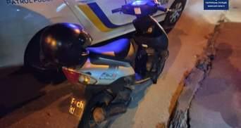 Не пропустил пешехода: во Львове случайно задержали скутериста под наркотиками – фото