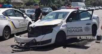 У Харкові авто поліції зіткнулося з позашляховиком: правоохоронця госпіталізували – відео