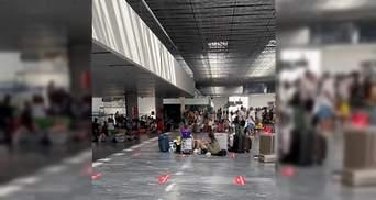 Сиділи, як табір біженців: що відбувалося в аеропорту Бодрума, де застрягли українці – відео
