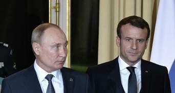 Путин и Макрон поговорили: глава Кремля пожаловался на Украину
