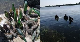 """Витягнули з річки 20 мішків сміття: в Херсоні до Дня Дніпра провели акцію """"Пошук не скарбів"""""""