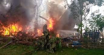 На Філіппінах розбився військовий літак: щонайменше 17 жертв – фото, відео