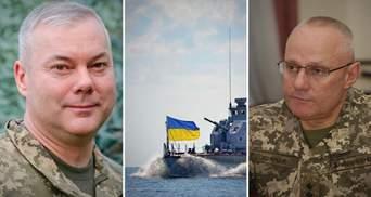 Вы являетесь образцом чести и патриотизма, – Наев и Хомчак поздравили военных с Днем ВМС ВСУ