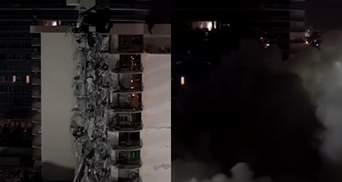 Напередодні урагану: у США вибухівкою знесли вцілілу частину обваленої будівлі в Маямі – відео