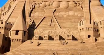 В Дании построили самый высокий в мире замок из песка: впечатляющие фото и видео
