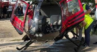 У Польщі оприлюднили кадри падіння гелікоптера з українцями в озеро: відео