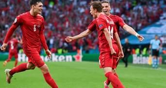 Дания прямым ударом со штрафного открыла счет в матче с Англией: видео