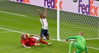 Англия благодаря 11 автоголу на Евро-2020 сравняла счет в матче с Данией: видео