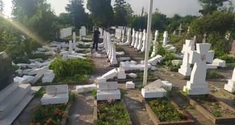 На Львовщине 20-летний парень разбил почти 60 крестов на могилах Сечевых стрельцов: фото