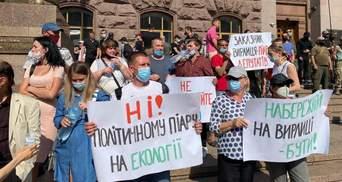"""Депутатка показала відео, як платили учасникам мітингу """"підприємців"""" під Київрадою"""