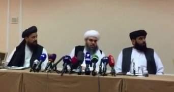 """Террористы в гостях у России: """"Талибан"""" провел пресс-конференцию в Москве"""