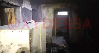 Взорвался газовый баллон и начался пожар под Одессой: задело мужчину – жуткие фото