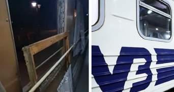 """Новейшая """"система вентиляции"""": в поезде Укрзализныци выпало окно – видео"""