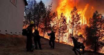 Спека в Каліфорнії спричинила масштабні пожежі: будинки палають, а людей евакуюють