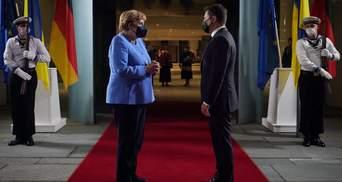 В Берлине завершилась 4-часовая встреча Зеленского и Меркель