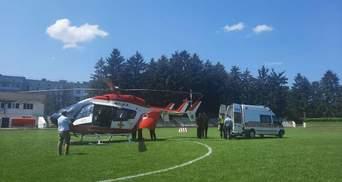 Вертоліт евакуював у Київ хлопчика з Житомирщини, якого поранив військовий: відео