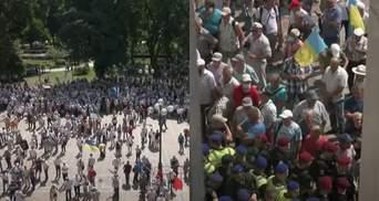 Это предупредительная акция, – участник протеста под ВР объяснил требования силовиков-ветеранов