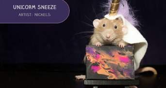 Малюють лапками: чарівні картини домашніх щурів продають з аукціону – фото