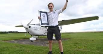 Наймолодший у світі пілот здійснив навколосвітню подорож: він облетів земну кулю за 44 дні