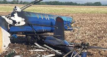 Падіння вертольота Мі-2 на Миколаївщині: з'явилися подробиці та фото з місця аварії