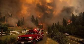 На Заході США вирують масштабні пожежі площею з Нью-Йорк: відео