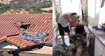 Проломил крышу, но остался жив: военный пролетел более 4 километров с нераскрытым парашютом