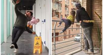 """Пустотливий татусь створює у фотошопі кумедні колажі з дітьми, щоб """"полоскотати"""" нерви матусі"""