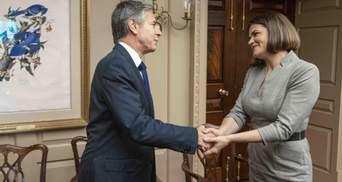Жыве Беларусь, – госсекретарь США Блинкен после переговоров с Тихановской