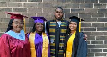 Перерыв в 30 лет: как мама стала выпускницей одновременно с тремя детьми