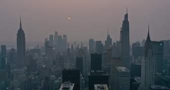 Через масштабні пожежі на заході США Нью-Йорк затягнуло димом: фото