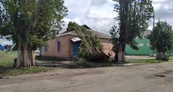 Зірвані дахи та повалена водонапірна вежа: буревій на Луганщині наробив лиха