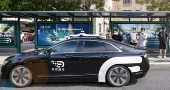 На вулиці міста у Китаї виїхали безпілотні таксі: перевозять безкоштовно