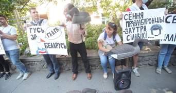 Лукашенку нагадали про Гаагу: в Києві протестували проти переслідувань у Білорусі
