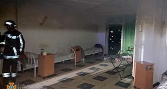 У Кривому Розі горів будинок престарілих: фото, відео